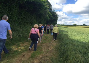 People walking - The Derry Downs Surgery Health Walk